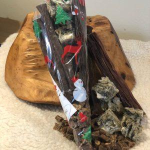 LIVforPETS Shop - Christmas Natural Dog Treat Bag, Large